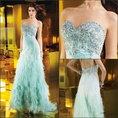 Luxury Sexy Sweetheart Neckline Beads Ostrich Feather Evening Gowns Photo, Detailed about Luxury Sexy Sweetheart Neckline Beads Ostrich Feat...