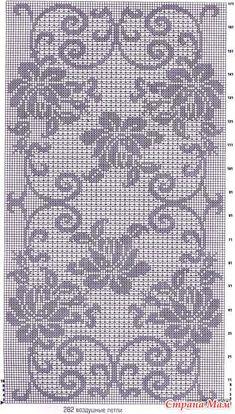 "Photo from album ""nov 2016 6 on - Stola Stricken Crochet Lace Edging, Crochet Cross, Crochet Home, Thread Crochet, Irish Crochet, Crochet Doilies, Crochet Stitches, Filet Crochet Charts, Crochet Diagram"