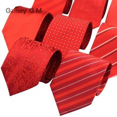 #FASHION #NEW Red Striped Ties for Men Casual Jacquared Neckties for Men Classic Striped Neck Tie For Wedding Party