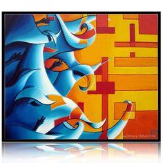 "Geometric Painting by artist Amaury Dubois | Oil painting on canvas 65x54cm. ""Armée des songes & Monotonie"" #orange #painting #art #abstrait #abstraction #abstract #geometric #modern #oilpainting #contemporary"