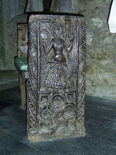 The Mermaid of Zennor, originally a pew-end, stands in the small chapel on the right hand side of the church. It is reputed to be five or six hundred years old.    According to a local legend, the mermaid came up the stream from the sea to listen to the beautiful singing of a chorister named Matthew Trewella. She enticed him down to the beach and into the sea, and he was never seen again. For many years after his voice could be heard in Pendour Cove as he sang to his merm...