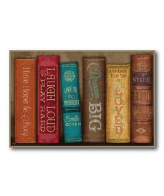 Another great find on #zulily! Books 'Have Hope Be Strong' Gallery-Wrapped Canvas #zulilyfinds
