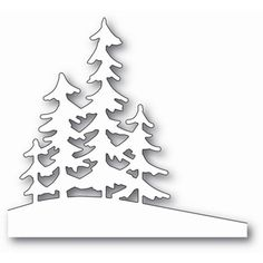 Memory Box ALPINE TREES Craft Die 99829 - - Memory Box dies are made of durable steel and usable in nearly every machine on the market! Use on cardstock, felt, fabric or shrink plastic. Cut, stencil, emboss and create! Christmas Stencils, Christmas Art, Christmas Ornaments, Handmade Christmas, Christmas Clipart, Tree Crafts, Paper Crafts, Diy Crafts, Circle Crafts