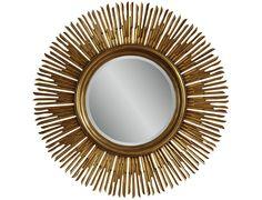 Bassett Mirror Old World 48 Gold Soleil Wall Mirror | BAM3465BEC $458