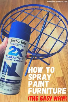 How to rejuvenate metal outdoor furniture quickly and easily with Rust-oleum spray paint #Rustoleum #colorwatch #spraypaint #patiofurniture
