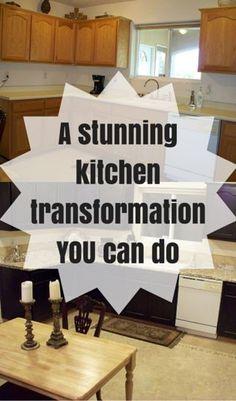 A Stunning Kitchen Transformation YOU Can Do http://www.hometalk.com/l/K13