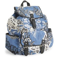 Aeropostale Floral Print Backpack ($30) ❤ liked on Polyvore featuring bags, backpacks, black, aéropostale, backpacks bags, floral print backpack, floral rucksack and backpack pouch