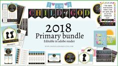 This FREE 2018 Primary Theme Bundle includes Binder Covers, Billboard decorations, Cd covers, booksmarks, door signs, banners, graphics.