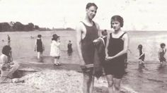 Zelda Fitzgerald at the beach in Westport, Connecticut, May 1920