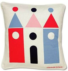 """Alexander Girard """"House"""" pillow. I so wish you could still buy these."""