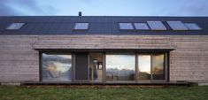 The Shed - With the first grant-aided exhaust-air heat pump in Scotland to power the under-floor heating and hot-water system, together with solar panels and over-insulation, this corrugated and larch clad 'shed' should prove economical in the extreme.