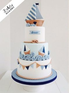 Motivtorte Segelboot Motivtorte Segelboot The post Motivtorte Segelboot appeared first on Kuchen Rezepte. Gateau Baby Shower, Baby Shower Cakes, Fondant Cakes, Cupcake Cakes, Nautical Cake, Nautical Style, Sailboat Cake, Nautical Wedding Cakes, Nautical Party