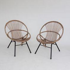 Image of Rattan hoop chairs