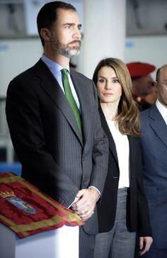 Prince Felipe and Princess Letizia inaugurate 'INDESA 2010' on 5 Mar 2013 in Vitoria-Gasteiz, Spain