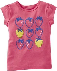 Carters Embroidered Tee Baby  Strawberry3 Months *** Learn more by visiting the image link.