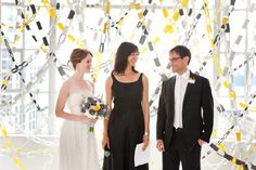 Not your traditional background for a ceremony makes it that much more memorable. Photo By Dave Robbins