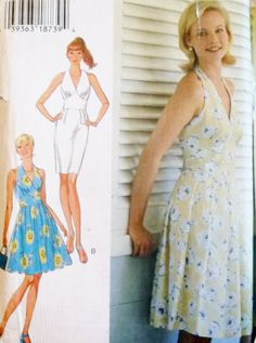 Style 2740 Misses' Halter Top Sundress Sewing Pattern, Size. 6 - 16,  Uncut