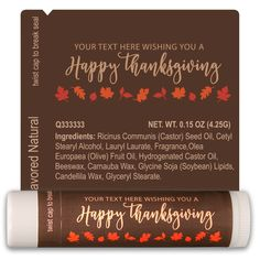 TLB2323 - Thanksgiving Lip Balm Template 2323 #chapstick #thanksgiving