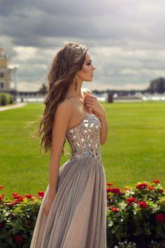 2013 Sexy Empire Strapless Floor-length Chiffon A-line Plus Size Prom/evening/bridesmaid Dresses Jovani 5685