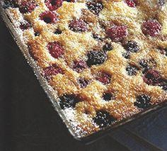 Raspberry and Blackberry Clafoutis - Antonio Carluccio Foundation No Cook Desserts, Italian Desserts, Italian Recipes, Dessert Recipes, Best Chef, Baking Tins, Bean Soup, Menu Restaurant, Puddings
