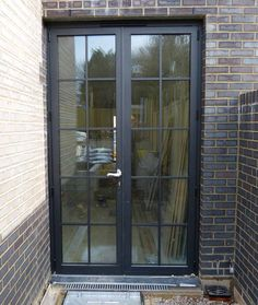 Patio : Cost To Replace A Sliding Glass Door Cheap Sliding Glass Doors Black French Doors Pella Patio Door steel french patio doors Patio Doors And Windows' Exterior Patio Sliding Doors' Sliding Door Patio along with Patios Black French Doors, French Doors Patio, French Patio, Back Doors, Entry Doors, Door Entryway, Entryway Closet, Front Entry, Aluminium French Doors