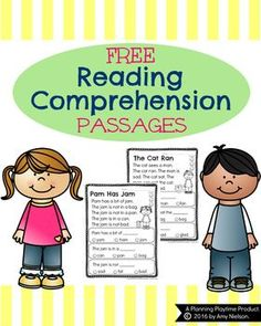 FREE Reading Comprehension Passages - Great practice for early emergent readers.