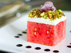 Stacked Watermelon Salad is just one of the 14 other awesome ways to eat watermelon http://www.ivillage.com/amazing-ways-eat-watermelon/3-a-538918