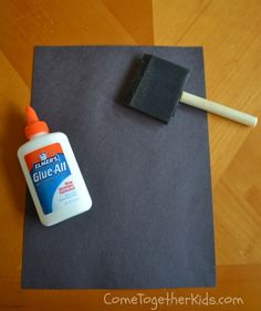"""Make Your Own Chalkboards with construction paper and glue. Cover paper w/glue & let dry. """"Season"""" by rubbing w/chalk & wipe down. Now ready to use!"""