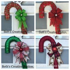Quilted Christmas Ornaments, Christmas Mesh Wreaths, Handmade Christmas Decorations, Christmas Centerpieces, Felt Christmas, Christmas Reef, Christmas Signs, Candy Cane Wreath, Candy Canes