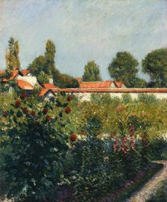 Gustave Caillebotte — The Garden of Petit Gennevillers, the Pink Roofs,...