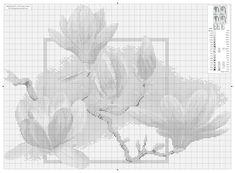 Gallery.ru / Фото #11 - Цветы Jacky Lonen - BelleBlue Cross Stitching, Cross Stitch Embroidery, Magnolia, Stitch 2, Cross Stitch Flowers, Handicraft, Needlepoint, Needlework, Floral