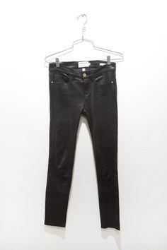 @framedenim leather skinny pants at DIANI