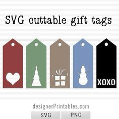 free christmas gift tags to be cut out using cricut cutting machine or just print and cut with scissors. free svg Christmas tag, christmas tag printable.