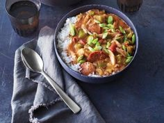 Quick Rotisserie Chicken Gumbo Recipe   Valerie Bertinelli   Food Network