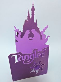 Tangled papercut card! Used to sell this on my etsy store but now I've decided to share the template so that everyone can try papercutting! :)