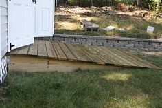 Setting pre-built Shed and Building Access Ramp - MyTractorForum ...