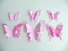 """""""Awareness"""" Paper Butterflies - 18 Diecut Pieces"""