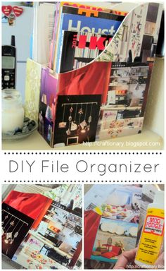 Decorate a file organizer with your favorite magazine images.. #ikea #organization