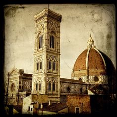 Florence with a touch of vintage Firenze, Taj Mahal, Spaces, Touch, History, Building, Beauty, Vintage, Italia