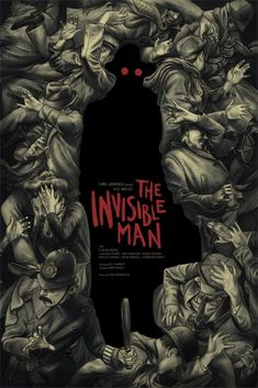 """""""The Invisible Man,"""" by Jonathan Burton. Cool New Mondo Posters for Classic Universal Monster Movies – Page 6 – Flavorwire Gravure Illustration, Illustration Art, Illustrations, Monster Art, Book Cover Art, Book Cover Design, Book Covers, Plakat Design, Buch Design"""