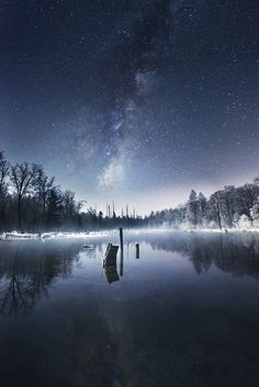 Night in the ChangbaiMountain by peacecius on 500px.... #ChangbaiMountain #galaxy #landscapes #nature #night #nightscape #photography #photoshop #stars