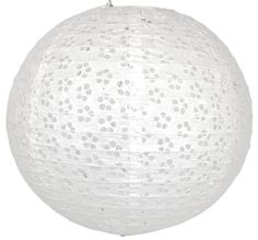 12  White Round Eyelet Paper Lantern the light coming through the holes should be beautiful