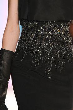 #Carolina Herrera - Fall 2012 LBD    #herrera #lbd beaded black dress