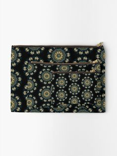 """""""Chic Green & Gold Asian Pattern"""" Zipper Pouch by HavenDesign Zipper Pouch, Green And Gold, Pouches, Are You The One, Asian, Chic, Pattern, Prints, Stuff To Buy"""