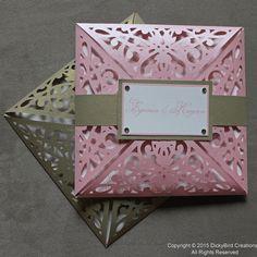 Pink Laser Cut Invitation