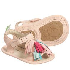 75e67e8a5b7520 Tip Toey Joey - Baby Girls Pink  Folksy  Originals Sandals