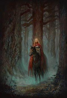 Paladin (Celaena) in the dark wood