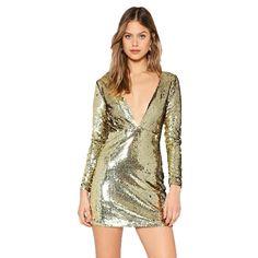 Erin Metallic Sequin Mini Dress