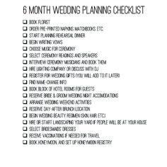 A 6 Month Engagement – Wedding Planning Checklist | wedding hashtag ...