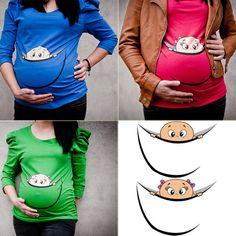 Cool maternity tunic 3/4 longsleeve! 6 DIFFERENT COLOURS Maternity Shirt, Maternity Clothes, Maternity Clothing, Maternity Tshirt